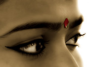 Eye Gestures Posters - Symbol of Love BINDI Poster by Sapna Mondol