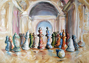 Chess Queen Painting Framed Prints - Symbol Framed Print by Stanciu Razvan