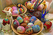 Wooden Bowls Art - Symbols of Easter- Spiritual and Secular by Gary Holmes