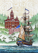 Lady Washington Painting Prints - Symbols of Our Heritage Print by James Williamson