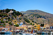 Rhodes Greece Framed Prints - Symi Island Greece Framed Print by Jimmy Karlsson