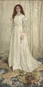 Full-length Portrait Prints - Symphony in White No 1 The White Girl Print by James Abbott McNeill Whistler