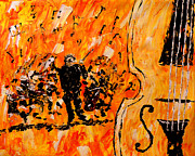 Pallet Knife Painting Prints - Symphony Print by Mark Moore