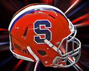 Orangemen Prints - Syracuse Helmet Print by Gallery Three