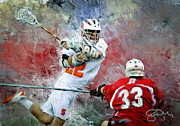 Scott Melby Metal Prints - Syracuse Lacrosse Metal Print by Scott Melby
