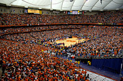Orange Photos Framed Prints - Syracuse Orange Carrier Dome Framed Print by Replay Photos