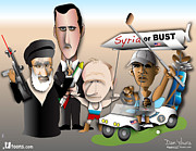 President Obama Posters - Syria or Bust Poster by Dan Youra