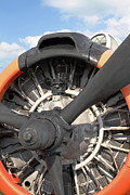 Airplane Radial Engine Posters - T-28 Radial Engine Poster by Cleveland Brown