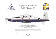 Aircraft Artwork Framed Prints - T-6A JPATS Texan II Framed Print by Arthur Eggers
