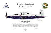 Aviator Digital Art Posters - T-6A Texan II VT-10 Poster by Arthur Eggers