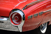 1963 Ford Prints - T-Bird Tail Print by Dennis Hedberg