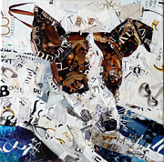 Torn Paper Prints - T-Bone Print by Suzy Pal Powell
