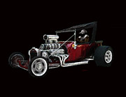 T Bucket Hot Rod Posters - T Bucket Poster by Steve Knapp
