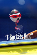 Blue Classic Car Posters - T-Buckets Rule Poster by Jill Reger