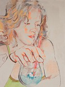 Young Woman Pastels Prints - T. G. I. F. Print by Kay Bohren