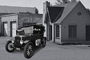 Ford Model T Car Prints - T in O K Print by Bill Dutting