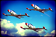 Jet Star Photo Metal Prints - T33 Thunderbirds Metal Print by Chris Smith