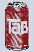 Soda Can Prints - Tab Ode To Andy Warhol Print by Tony Rubino