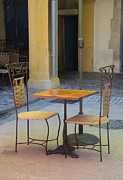 Place Du Forum Prints - Table for Two Print by Anita Miller