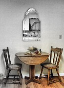 Featured Mixed Media Posters - Table for Two Poster by Jackie Bodnar