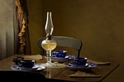 Oil Lamp Photos - Table Setting by Holly Cawfield