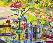 Glass Table Prints - Table Setting Reflections Print by Jack Schultz