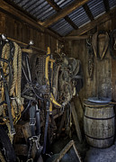 Lynn Palmer Prints - Tack Room with Barrel Print by Lynn Palmer