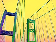 Ann Johndro-collins Prints - Tacoma Narrows Yellow Print by Ann Johndro-Collins