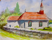 Yvonne Ayoub - Tadoussac Church Quebec...