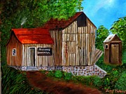Makeshift Painting Posters - Tafoyas Old Sawmill in Colorado Poster by Janis  Tafoya