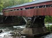Taftsville Metal Prints - Taftsville Covered Bridge Metal Print by John Greco