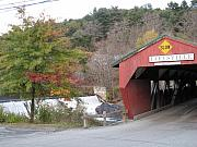 Taftsville Metal Prints - Taftsville Covered Bridge Vermont Metal Print by Barbara McDevitt