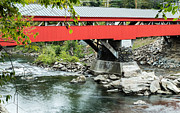 Historic Site Posters - Taftsville Covered Bridge Vermont Poster by Edward Fielding