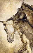 Filly Paintings - Tag your it by Diana Allison