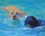 Retriever Prints Originals - Tag Youre It by Sheila Wedegis