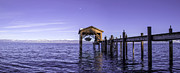 Boating Lake Prints - Tahoe Boathouse Print by Brad Scott