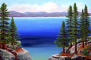 Lake Tahoe Paintings - Tahoe Dreams by Frank Wilson