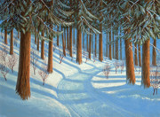 Cedars Paintings - Tahoe Forest In Winter by Frank Wilson