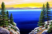 Lake Tahoe Paintings - Tahoe Morning by Frank Wilson