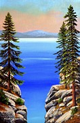 Lake Tahoe Paintings - Tahoe Notch by Frank Wilson