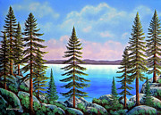 Gouache Painting Originals - Tahoe Pines by Frank Wilson