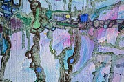 Grid Paintings - tail from Associations 7 by Regina Valluzzi