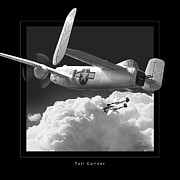 B-25 Bomber Prints - Tail Gunner Print by Larry McManus
