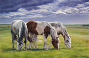 Saddle Paintings - Tail Wind by Michelle Grant