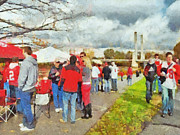 Stadium Digital Art - Tailgating Outside of the Stadium 1 by Digital Photographic Arts