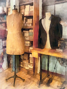 Dressmaker Posters - Tailor - A Pair of Dummies Poster by Susan Savad
