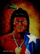 Puerto Rico Digital Art Prints - Taino Boricua Print by Edgar Torres