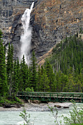 Best Sellers Posters - Takakkaw Falls Poster by Lisa  Phillips
