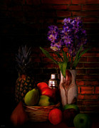 Fruit And Wine Metal Prints - Take A Break Metal Print by Lourry Legarde