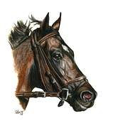 Thoroughbred Race Paintings - Take Charge Indy by Pat DeLong